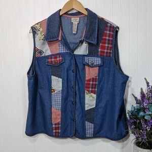 Koret City Blues Americana Picnic Vest 20W